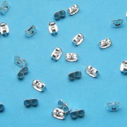 2 oorsteker stoppers, zilverkleurig
