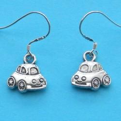 Auto oorbellen, Tibet zilver