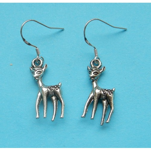 Bambi oorbellen, Tibet zilver