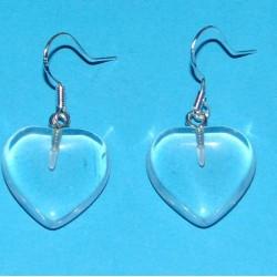 Bergkristal hart oorbellen