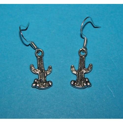 Cactus oorbellen, Tibet zilver