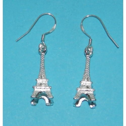 Eiffeltoren oorbellen, Tibet zilver