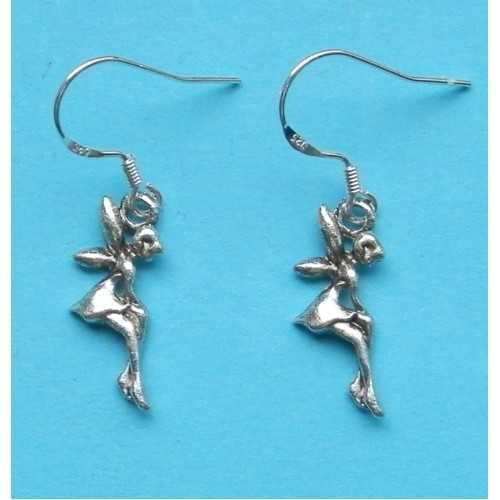 Elfje oorbellen, Tibet zilver, model B