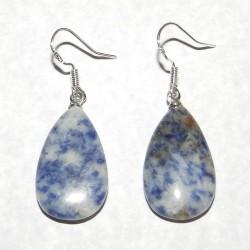 Blauwe Jaspis oorbellen