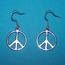 """""""Peace"""" oorbellen, Tibet zilver"""