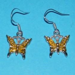 Gele vlinder oorbellen