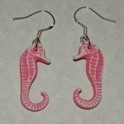 Roze zeepaardje oorbellen