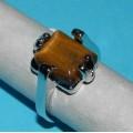 Zilveren ringen met Tijgeroog
