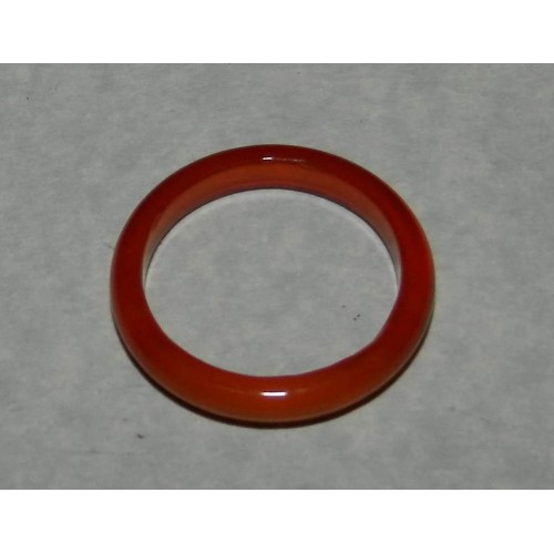 Goudbruine Agaat ring, 3mm breed, maat 17