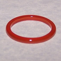 Lichtbruine Agaat ring, 2mm breed, maat 14,5