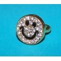 Goudkleurige ringen met kristal