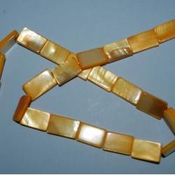 Streng gele Parelmoer kralen - 15x10mm