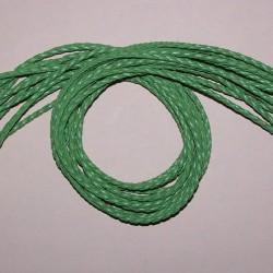 Groene leren veter met klauwslotje