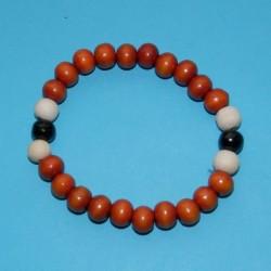 Houten pols mala of Boeddha armband, gemengd, model A
