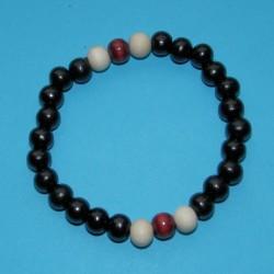 Houten pols mala of Boeddha armband, gemengd, model B