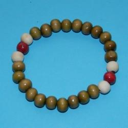 Houten pols mala of Boeddha armband, gemengd, model C