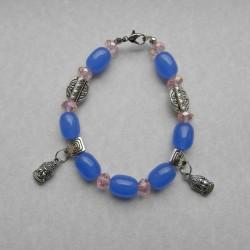 Blauwe Agaat armband met Boeddha bangles