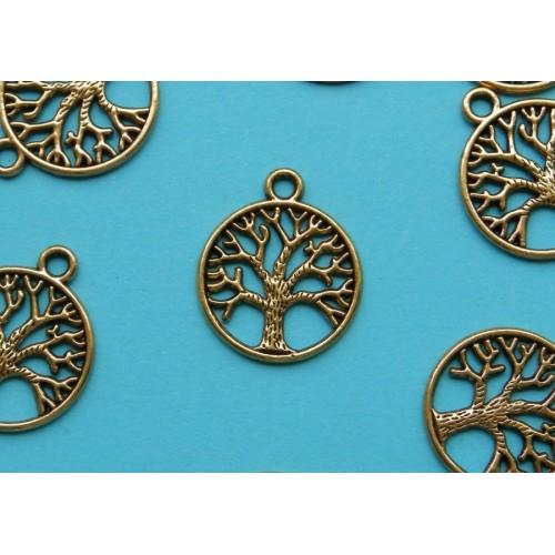 Levensboom bangle, goud