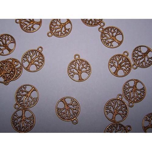 Levensboom bangle, brons