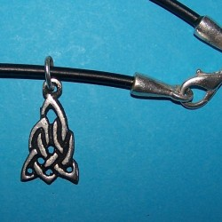 Celtic knot hanger, model 2, met veter