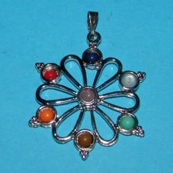 Bloem hanger met chakra kristallen