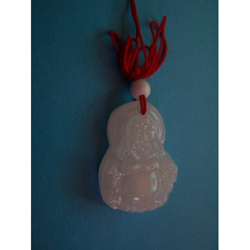 Boeddha hanger, witte Jade, model D