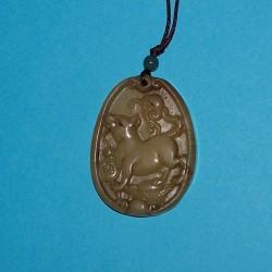 Hond hanger, Chinese astrologie, oude jade