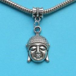 Boeddha hoofd bangle, Pandora stijl, Tibet zilver, model A