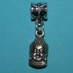 Boeddha hoofd bangle, Pandora stijl, Tibet zilver, model B