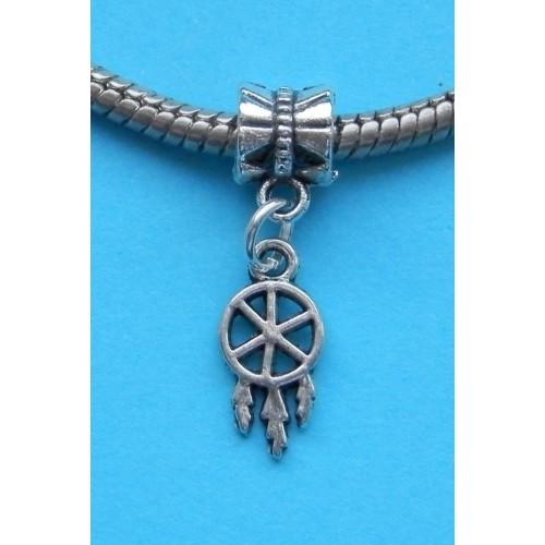Dreamcatcher bangle, Tibet zilver, Pandora stijl