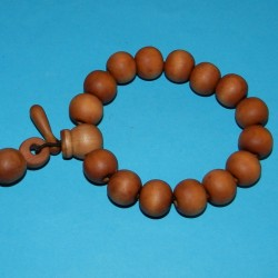 Houten pols mala of Boeddha armband, model A