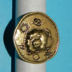 Leeuw ring, koper, verstelbaar