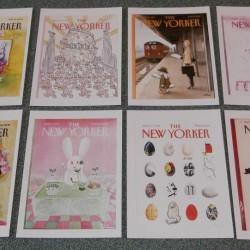 8 New Yorker cover dubbele Pasen kaarten - set A