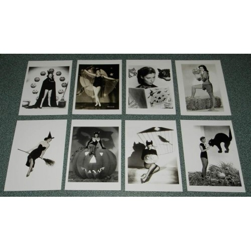 8 Grote dubbele Hollywood Halloween kaarten - set B