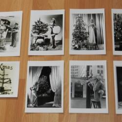 8 Dubbele Nostalgische Hollywood Kerstkaarten - set B