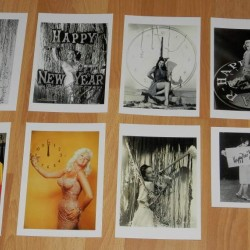 8 Dubbele nostalgische Hollywood Nieuwjaar kaarten - set A