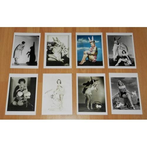 8 Nostalgische Hollywood Paas ansichtkaarten - set A