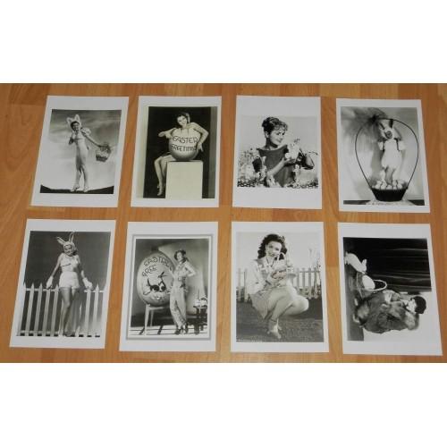 8 Nostalgische Hollywood Paas ansichtkaarten - set B