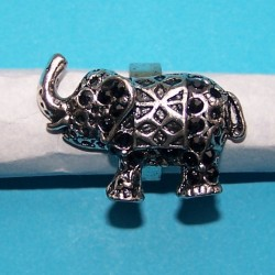 Grote olifant ring, Tibet zilver
